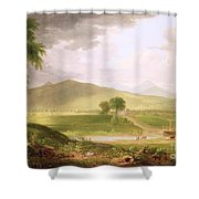 View Of Rutland - Vermont Shower Curtain by Asher Brown Durand