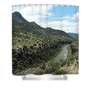 View Of Salt River Canyon Shower Curtain