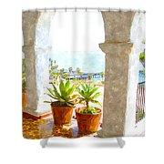 View Of San Clemente Pier Shower Curtain