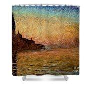 View Of San Giorgio Maggiore Venice By Twilight Shower Curtain