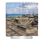 View Of San Juan From The Top Of Fort San Cristoba Shower Curtain