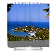 View Of St. Lucia Shower Curtain