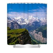 View Of The Swiss Alps Shower Curtain