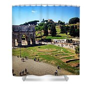 View Of The Arch Of Constantine From The Colosseum Shower Curtain