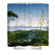 View Of The Bay Of Pozzuoli Shower Curtain
