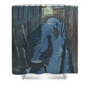 View Of The Bridge Of Sighs At Night. Shower Curtain