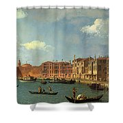 View Of The Canal Of Santa Chiara Shower Curtain