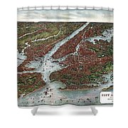 View Of The City Of New York And Vicinity Shower Curtain