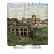 View Of The Cloaca Maxima - Rome Shower Curtain