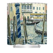 View Of The Grand Canal In Venice Shower Curtain