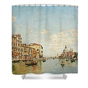 View Of The Grand Canal Of Venice Shower Curtain