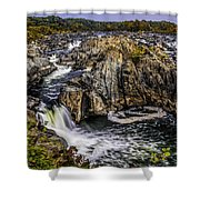 View Of The Great Falls Shower Curtain
