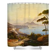 View Of The Gulf Of Naples Shower Curtain