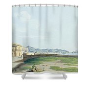 View Of The Harbour And City Of Palermo Shower Curtain