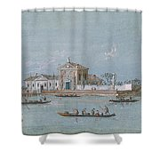 View Of The Island Of B.v. Del Rosario Shower Curtain