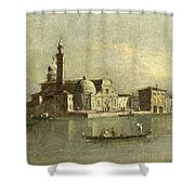 View Of The Isola Di San Michele In Venice Shower Curtain