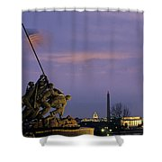 View Of The Iwo Jima Monument Shower Curtain