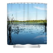View Of The Lake Enajarvi Shower Curtain