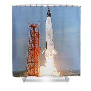 View Of The Liftoff Of Mercury-atlas 5 Shower Curtain