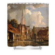 View Of The Little Alster Shower Curtain