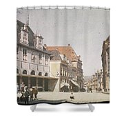 View Of The Market Horn  With The Statue Of Jan Pietersz Coen And The Waag Anonymous  1907   1930 Shower Curtain