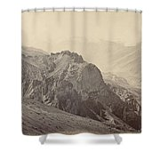 View Of The Mountains Of The Himalayas, Samuel Bourne, 1866 Shower Curtain