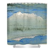 View Of The Old Man At Coniston As Seen From Brantwood House Shower Curtain