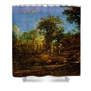 View Of The Pastures Of The Limousin 1835 Shower Curtain
