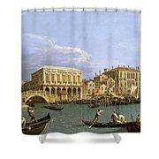 View Of The Riva Degli Schiavoni. Venice Shower Curtain
