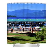 View Of The Selkirk Mountains Shower Curtain