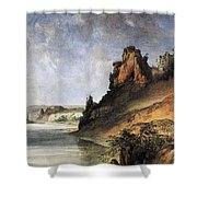 View Of The Stone Walls Shower Curtain