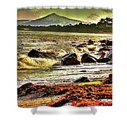 View Of The Sugarloaf Mountain From Killiney, 1b Shower Curtain
