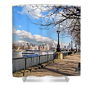 View Of The Thames Shower Curtain