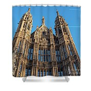 View Of The Top Detail Of The Parlament House In London Shower Curtain