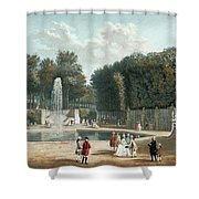 View Of The Tuileries Garden Shower Curtain