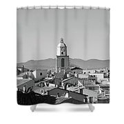 View Of The Village And The Clocher Of Saint-tropez Shower Curtain