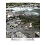View Of The Wenatchee River Shower Curtain