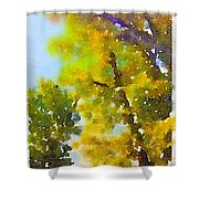 View Of The Willamette From The Trees Shower Curtain