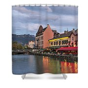 View Of Thiou River In Annecy Shower Curtain