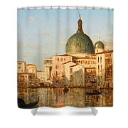 View Of Venice With San Simeone Piccolo Shower Curtain
