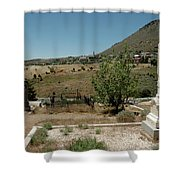View Of Virginia City Nv From The Final Resting Place Shower Curtain