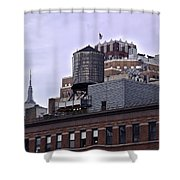 View Of Water Tank From High Line Park Shower Curtain