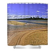View Of Wollumboola Lake From Sand Dunes Shower Curtain