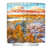 View Of Yosemite National Park Shower Curtain
