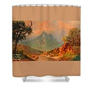 View On Blue Tip Mountain H A Shower Curtain