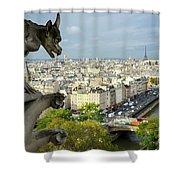 View On Paris City Shower Curtain