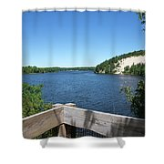 View On The Au Sable Shower Curtain