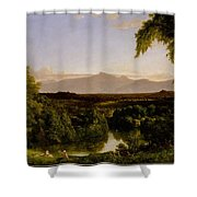 View On The Catskill Shower Curtain