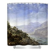 View On The Rhine Shower Curtain