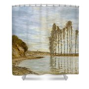 View On The Seine,  Harp Of The Winds , Homer Dodge Martin Shower Curtain